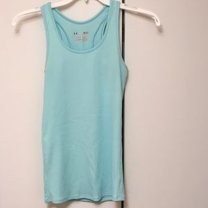Under armour heat gear, tank top, turquoise blue